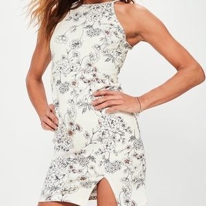 Floral Spring Mini Dress from MISSGUIDED